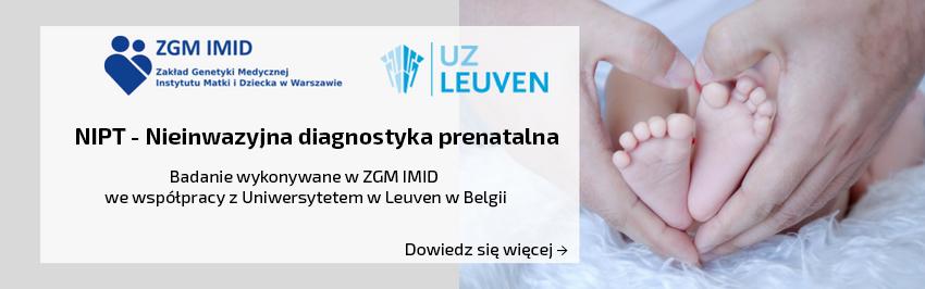 informacja o nieinwazyjnej diagnostyce prenatalnej w tle nóżki dziecka