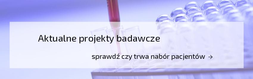 aktualne projekty badawcze ZGM IMID w tle probówki laboratoryjne